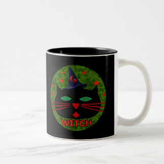 Kitty Witch Two-Tone Coffee Mug