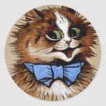 Kitty with a Bow Tie Classic Round Sticker