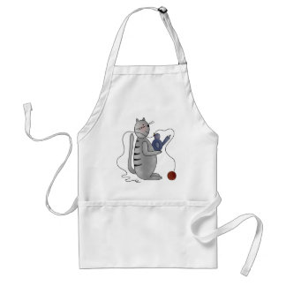 kitty with bird aprons