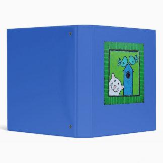 kitty with bluebirds binder