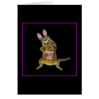 Kitty with Easter Rabbit ears Card