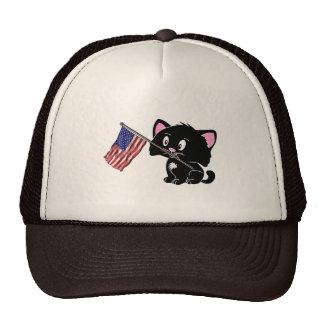 Kitty with Flag Hat