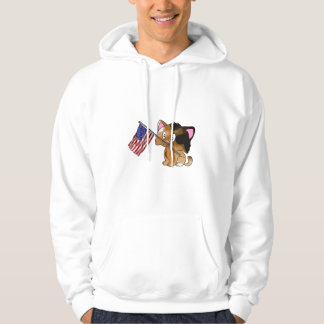 Kitty with Flag Hoodie