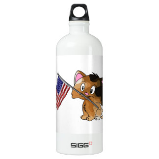 Kitty with Flag SIGG Traveler 1.0L Water Bottle