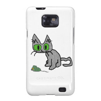 Kitty With His Mouse Toy Samsung Galaxy SII Cover