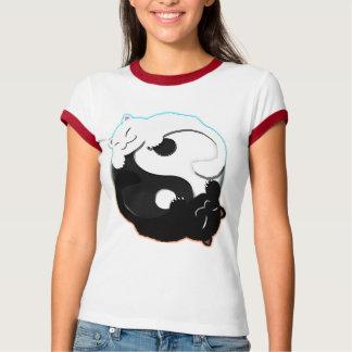 Kitty Yin Yang - Women's Ringer Shirt
