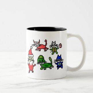 kittycorps, Kitties, Coffee, and Dailykos.com: ... Two-Tone Coffee Mug