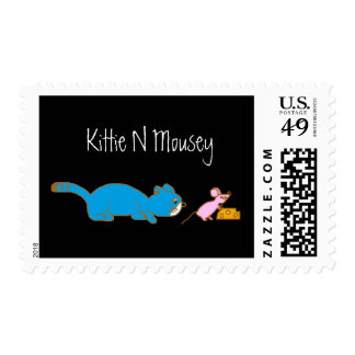 kittynmousey, Kittie N Mousey Postage Stamp