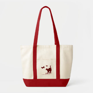 Kittys Are Free - Maroon Tote Bag