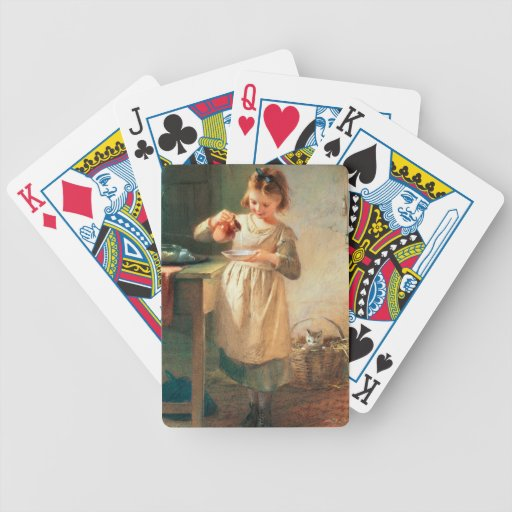 Kitty's Breakfast Bicycle Poker Cards
