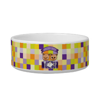Kitty's dinner time pet food bowl