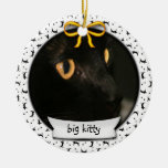 Kitty's First Christmas Double-Sided Ceramic Round Christmas Ornament