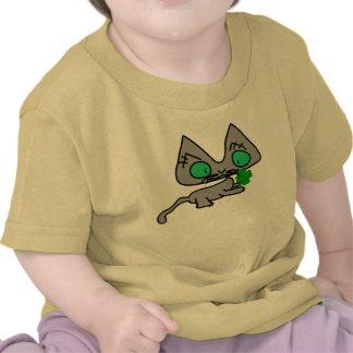 Kittys Four Leaf Clover T Shirts
