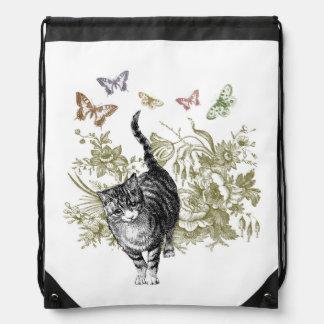 Kitty's Garden Drawstring Bag