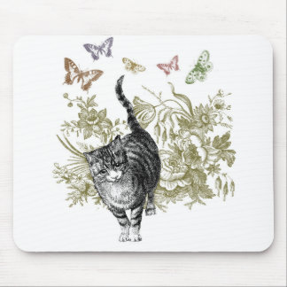 Kitty's Garden Mouse Pad