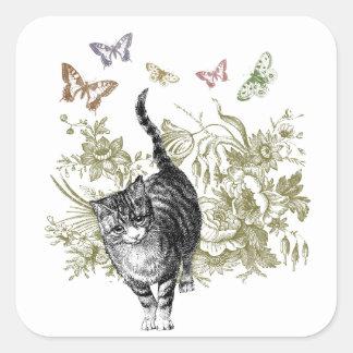 Kitty's Garden Square Sticker
