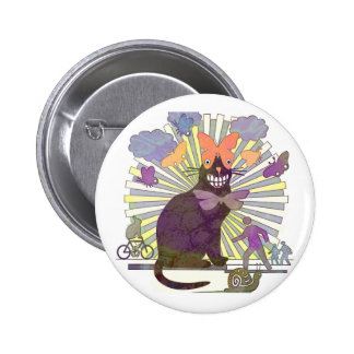 Kitty's got Butterfly Eyes Pinback Button