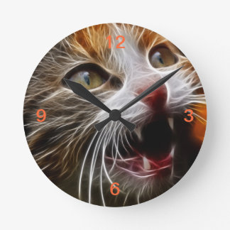 Kitty's Hungry Round Clock