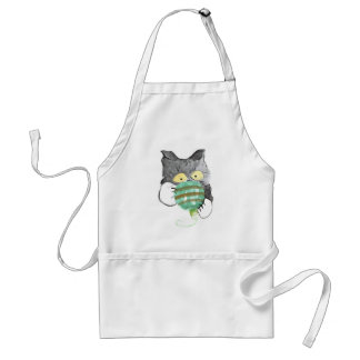 Kitty's Rolly Polly Christmas Ornament Adult Apron
