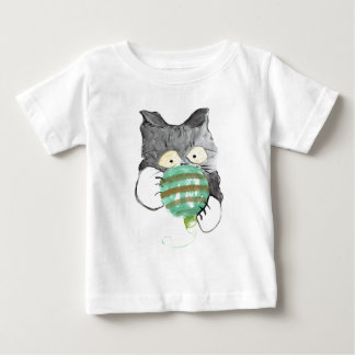 Kitty's Rolly Polly Christmas Ornament Baby T-Shirt