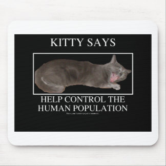 kittysays mouse pad