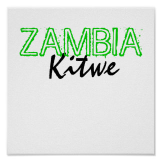 Kitwe, ZAMBIA Poster