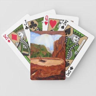Kiva in Bandalier Poker Cards, by Janis Tafoya Bicycle Playing Cards