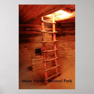 Kiva Ladder, Mesa Verde National Park Poster