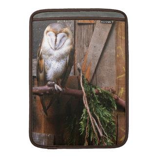 KIW Sparks: Barn & Spotted Owls Rickshaw Sleeve Sleeve For MacBook Air