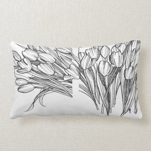 KIW Sparks: Ink Tulips Pillow