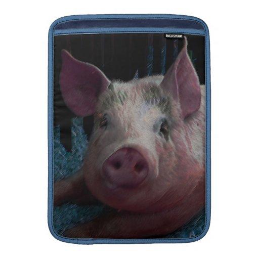 KIW Sparks: Piggy Rickshaw Sleeve MacBook Sleeves