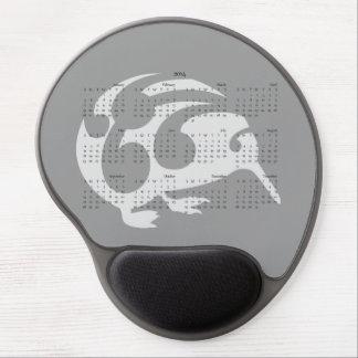 Kiwi 2014 calendar mousepad gel mouse pad