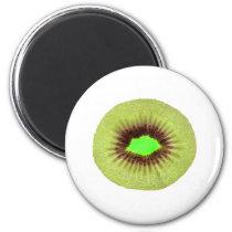 Kiwi 2 Inch Round Magnet