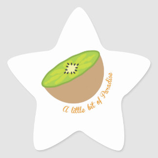 kiwi_A little bit of Paradise Star Sticker
