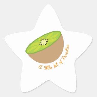 kiwi_A poco pedazo del paraíso Pegatina En Forma De Estrella