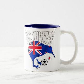 Kiwi All Whites logo shirts and gifts Two-Tone Coffee Mug