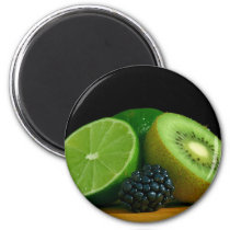 Kiwi and lime magnet