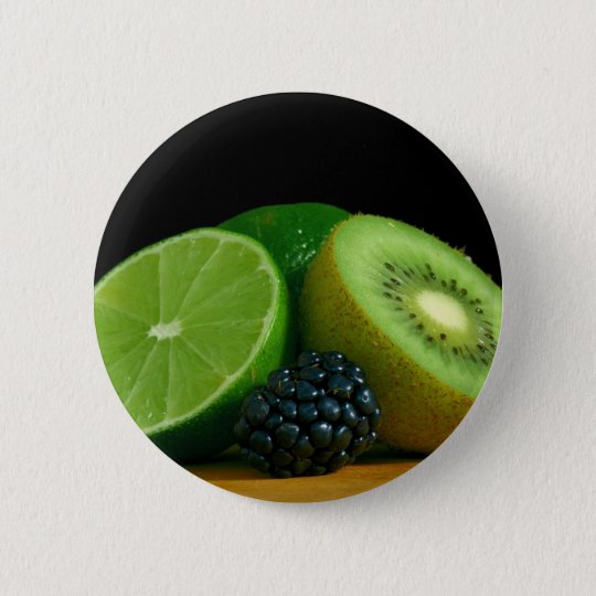 Kiwi and lime pinback button