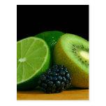 Kiwi and lime post card