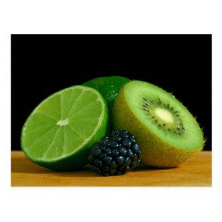 Kiwi and lime postcard