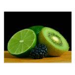 Kiwi and lime postcards