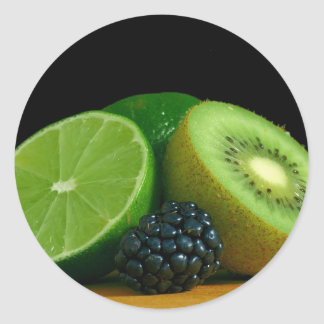 Kiwi and lime stickers