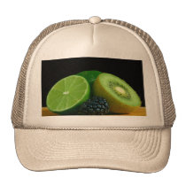 Kiwi and lime trucker hat