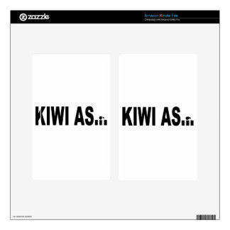 KIWI AS funny design for New Zealanders Kindle Fire Decals