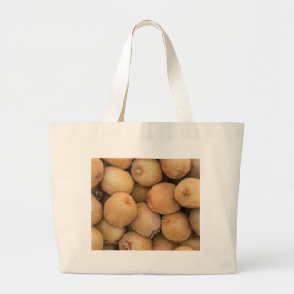 kiwi at market large tote bag