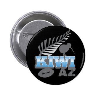 KIWI AZ rugby bird and silver fern 2 Inch Round Button