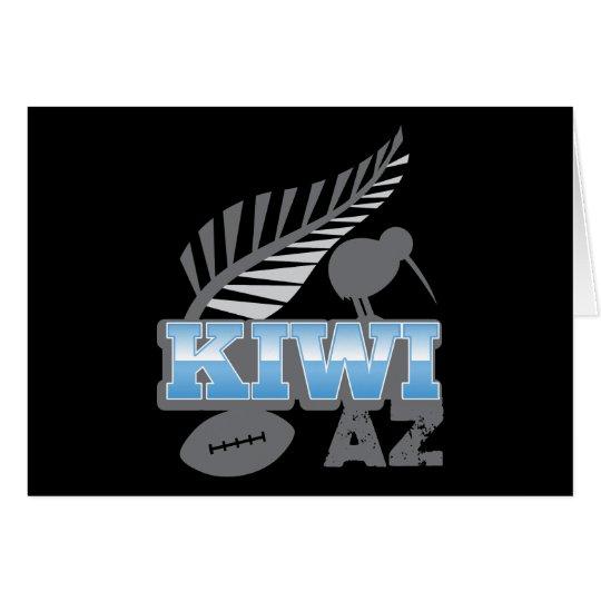 KIWI AZ rugby bird and silver fern Card