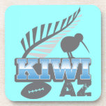 KIWI AZ rugby bird and silver fern Beverage Coasters