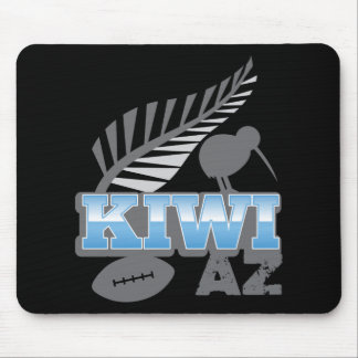KIWI AZ rugby bird and silver fern Mouse Pads