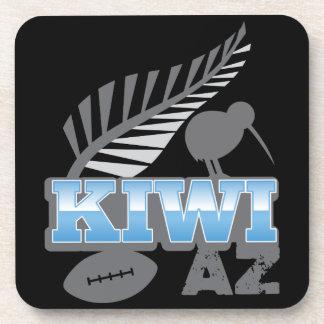 KIWI AZ rugby bird and silver fern New Zealand Beverage Coaster